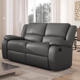 Canapé de relaxation  2 places en PU gris