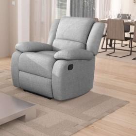 Fauteuil de Relaxation 1 place, tissu gris