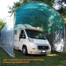 Abri camping car PRIMAVERA 3.50x8 mètres toile polyéthylene