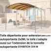 Toile d'extension de Tonnelle 2×3 m autoportante de 160 grs au m2
