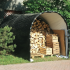 Abri tunnel de 9m2 pour rangement du bois d'une dimension de 3mx3m