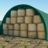 Serre de stockage tunnel 8 x 10 m structure galvanisée et toile PVC 650 gr au m2