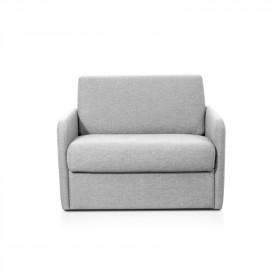 Dan fauteuil couchage rapide 70x190 cm tissu gris clair