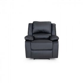 Fauteuil de Relaxation 1 place en simili cuir noir