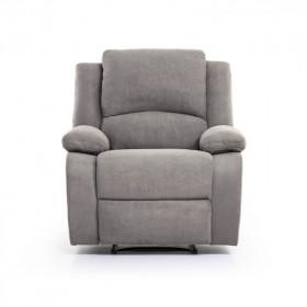 Fauteuil de Relaxation 1 place, microfibre grise