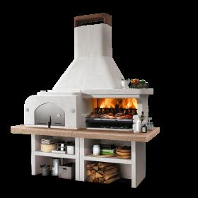 Barbecue combiné GARGANO 3 en pierre