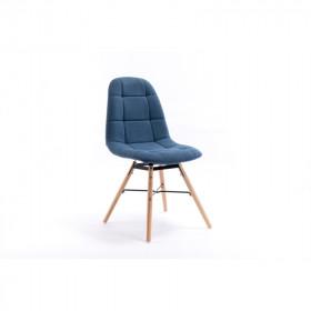 Lot de 2 chaises matelassées en tissu - Bleu Pétrole