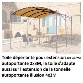 Toile d'extension de Tonnelle 2×3 m autoportante de 400 grs au m2